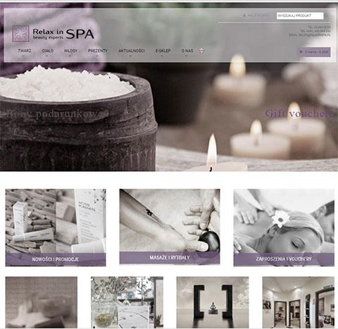 strony www – projekt strony i wykonanie samweb – salon spa aaa