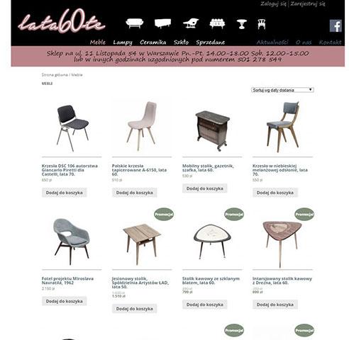 strony www – projekt strony www i wykonanie samweb -salon beblowy lata 60te eee