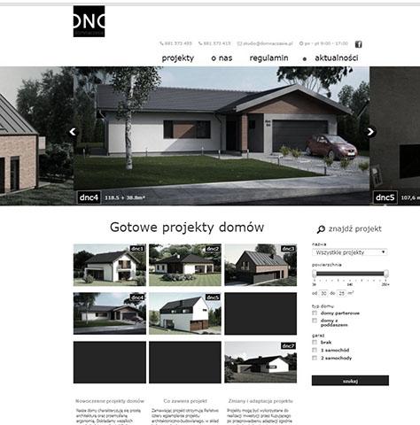 Projekt strony www – dom na czasie